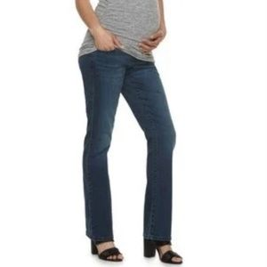 A Glow Maternity High Band Jeans Jeggings Size 2